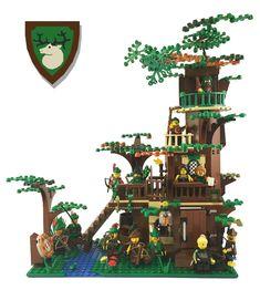 Lego Forestmen Hideout MOC