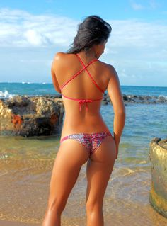 No more slouchy shapeless bikini bottoms. Scrunch flattering Bikini Bottom. $55.00.