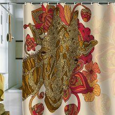 "Valentina Ramos ""The Giraffe"" Shower Curtain"