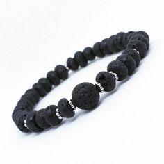 Black Lavastone beaded stretch bracelet black bracelet gemstone bracelet men's jewelry men's accessories unisex bracelet boho bracelet by PoppingCandyDesigns on Etsy Black Bracelets, Stretch Bracelets, Bracelets For Men, Beaded Bracelets, Men's Jewelry, Stone Jewelry, Unique Jewelry, Jewelry Ideas, Expensive Gifts