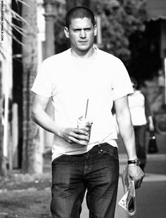 Wentworth Miller- not even a photo shoot n still looks this good!!!