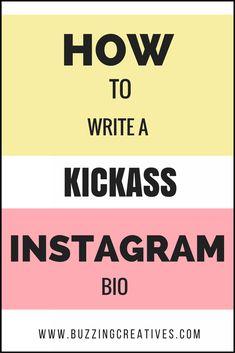 How to write a Instagram Bio , social media marketing #socialmediamarketinginstagram