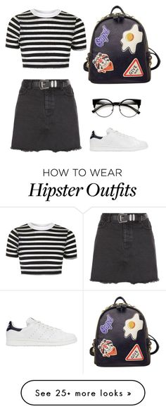 """Sin título #8"" by mykingky on Polyvore featuring New Look, Topshop, adidas Originals and WithChic"