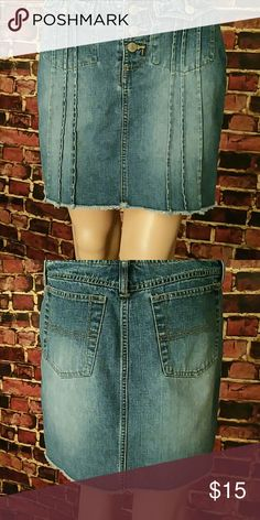 Blue Jean Miniskirt Blue Jean Miniskirt. 85% cotton, 15% polyester. Waist: 31 inches, Hips: 19 inches, Length: 15 inches. **Seller's Discount: 20% off 2 or more items.**[B11] Skirts Mini