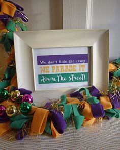 Add the final touch to your Mardi Gras decor or party!  This 5x7 Mardi Gras downloadable print looks great framed!