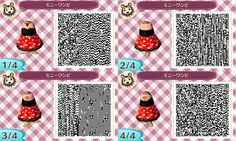 Animal Crossing: New Leaf - red spotted dress QR-code