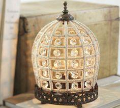 Dalila Beaded Crystal Accent Lamp | Pottery Barn