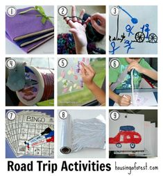 Road Trip Activities for kids ~ Lots of tips for organizing your car and keeping kids entertained.
