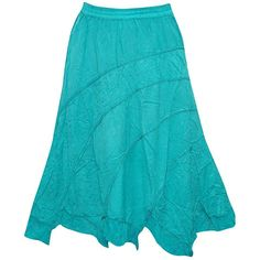 Womens Medieval Skirt Turquoise Embroidered Gyspy Long Skirts (30 CAD) ❤ liked on Polyvore featuring skirts, long blue skirt, embroidered skirt, ankle length skirts, wide skirt and blue skirt