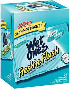 I'm learning all about Wet Ones Fresh N Flush Singles 24 Ct Box at @Influenster!