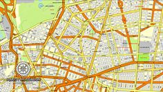 Mexico City vector map full with streets, with neighborhoods and suburbs full named, 25 parts Mexico, Adobe Illustrator,Scalable, editable in Adobe Illustrator, with separated layers, and names in…