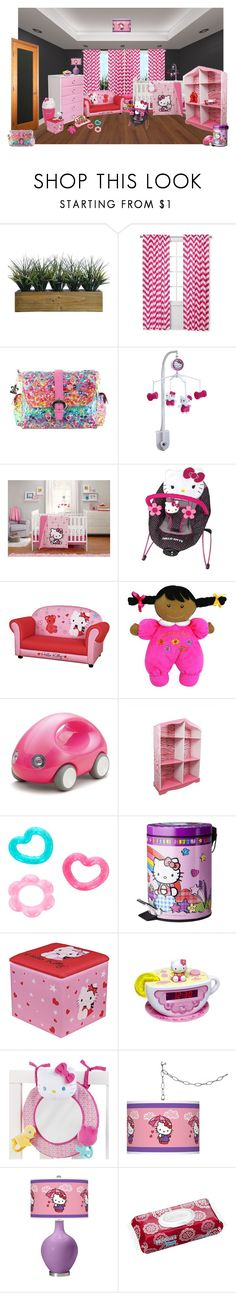 """Sloane Annabelle"" by sterlingkitten ❤ liked on Polyvore featuring interior, interiors, interior design, home, home decor, interior decorating, Laura Ashley, Sweet Jojo Designs, Kalencom and Hello Kitty"