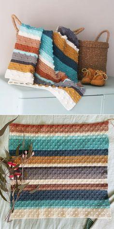 Crochet Quilt, Knit Or Crochet, Crochet Blanket Patterns, Learn To Crochet, Baby Blanket Crochet, Crochet Crafts, Crochet Stitches, Crochet Hooks, Knitting Patterns