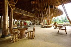 """Sustainable Architecture: """"Heart of Green School"""" bamboo structure, Bali [Image… Architecture Antique, Bamboo Architecture, Sustainable Architecture, Unique Architecture, School Architecture, Building A Trellis, Green Building, Bamboo Building, Natural Building"""