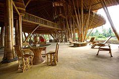 bamboo school, bali