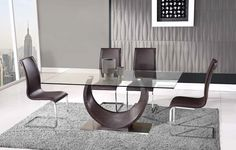 Night Life Contemporary Dining Room Table D2185DT by Global Furniture