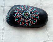 Set of two - Painted Stones Mandala - Mediterranean Sea-