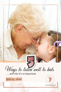 5 ways to listen well to kids.. and why it's so important. Wondering whether you're making a difference in your grandchildren's lives? Searching for meaningful ways to create memories- a family legacy? Looking for amazing and fun ideas that will connect with today's kids? But there's something that kids are desperately seeking.... and you can provide the answer.  Find out more AtGrandmasPlace.com
