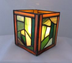 Stained Glass Candle Box