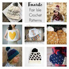 Free fair isle crochet patterns /  free crochet patterns / fair isle hat patterns / crochet pattern hat / crochet patterns for women / crochet patterns for toddlers / kids crochet patterns / faux knit crochet stitches / crochet basket pattern