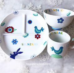 世界に一つ 名入れ 出産祝い ベビー・キッズ食器セット アニマル   ハンドメイドマーケット minne