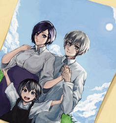Kaneki Y Touka, Tokyo Ghoul Fan Art, Akame Ga, Code Geass, Pokemon, Hero, Manga, Illustration, Pictures