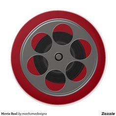 Movie Reel Ceramic Knob