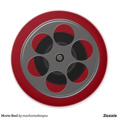 Movie Reel Ceramic Knob