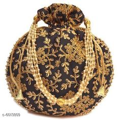 Pouches & Potlis Sana Stylish Women's Potli  Material: Silk Pattern: Embroidered Multipack: 1 Sizes:  Free Size (Length Size: 8 in Width Size: 7 in) Country of Origin: India Sizes Available: Free Size   Catalog Rating: ★4.2 (2227)  Catalog Name: Classic Alluring Women Pouches CatalogID_911783 C73-SC1077 Code: 991-6013809-093