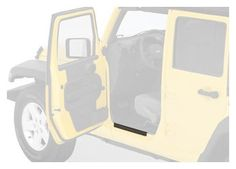 5cae325197c Bestop 51051-01 HighRock 4X4 Black Entry Guard for Wrangler JK including  Unlimited Protects against