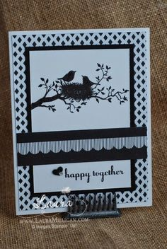"""Laura Milligan, Stampin' Up! Demonstrator - I'd Rather """"Bee"""" Stampin!: Happy Together - SU - World of Dreams, A Dozen Thoughts"""