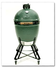 """For many, the Big Green Egg is the Weber of Kamados. They introduced Kamado cookers to the USA and are often viewed as the industry standard. The Large Egg is big enough for a 20 pound turkey and has an 18"""" diameter grate. Made in Mexico the BGE design"""