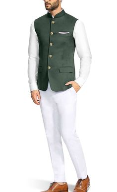 Nehru Jacket.  Worldwide Shipment. Book Order.+918826465043. Indian ethnic wear. Groomswear. Blue Blazer Outfit Men, Mens Dress Outfits, Dress Suits For Men, Stylish Mens Outfits, Men Dress, Waistcoat Men Casual, Nehru Jacket For Men, Indian Men Fashion, Mens Fashion Suits