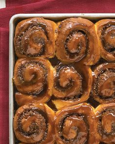 Cinnamon-Nut Buns   Martha Stewart Living - An easy recipe for warm, buttery rolls is reinvented into super cinnamon buns. You can easily adjust the filling to suit your taste. Skip the chocolate chips and use more nuts, or substitute another sweet spice for the cinnamon.