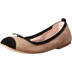 Bloch London Womens Evanne Ballet Flat ($106) ❤ liked on Polyvore featuring shoes, flats, ballet shoes, ballerina pumps, ballet flats, skimmer flats and ballet pumps