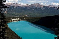 Emerald in the Rocky Mountains - Lake Louise - MBDesire Oh The Places You'll Go, Places Around The World, Places To Travel, Places To Visit, Around The Worlds, Travel Destinations, Fairmont Chateau Lake Louise, Rocky Mountains, Travel Usa