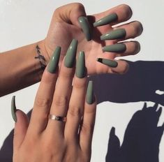 In look for some nail designs and ideas for your nails? Here is our listing of must-try coffin acrylic nails for cool women. Bright Summer Acrylic Nails, Fall Acrylic Nails, Fall Nails, Summer Nails, Fall Nail Art Designs, Acrylic Nail Designs, Gray Nails, Glitter Nails, Brown Nails