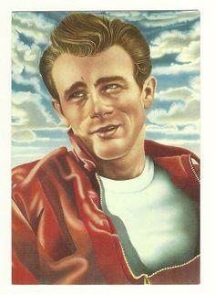 A James Dean postcard