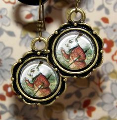Alice white rabbit earing from F'Moush