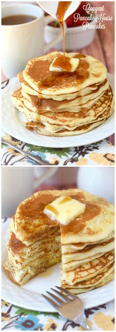 These Copycat Pancake House Pancakes are perfectly delicious buttermilk pancakes that you can have at home Quick Healthy Breakfast Ideas & Recipe for Busy Mornings Crepes And Waffles, Breakfast Waffles, What's For Breakfast, Breakfast Items, Breakfast Dishes, Breakfast Recipes, Pancake Recipes, Original Pancake House, The Pancake House