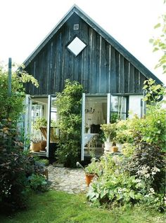 wide open windows on tiny house. The Nouveau Peasants | Tara Hurst Design