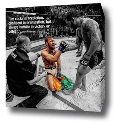 CONOR MCGREGOR CANVAS PRINT POSTER PHOTO WALL ART 2015 MENDES KO UFC 189 QUOTE