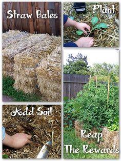 Easy Gardening – With Straw Bales | Free Gardening Tips | Free Gardening Help
