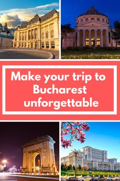 """A vibrant city, full of amazing landmarks and exciting things to do, Bucharest is one of the most beautiful European capitals. Its museums host various collections and the old city centre is a """"must see"""" place for anyone visiting the capital of Romania. Discover the tourist attraction that should be on every traveller's Bucharest sightseeing itinerary. Romania Tours, Capital Of Romania, Bucharest, Old City, Cool Places To Visit, Museums, Contents, The Good Place, Attraction"""