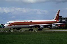 Kalitta DC-8-73F freighter N809CK Dublin 3/6/1990