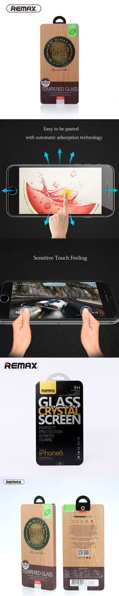 for 4.7inch iphone 6 iphone 6s glass film screen protector full transparent 9h tempered glass anti scratch hd view remax brand