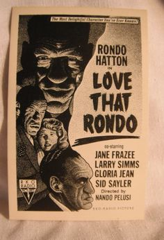 Love That Rondo Movie Poster Comic Postcard by Drew Friedman