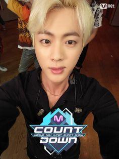 Jin ❤ MCOUNTDOWN Jin Selfie, Ep.473 Line up World No.1 KPOP Chart Show. #BTS #방탄소년단