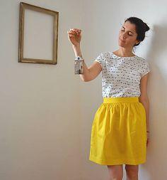 .mara.bara / .žltá sukňa letná
