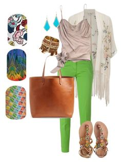 """Colorful fresh"" by krystinsjam on Polyvore featuring Miss Selfridge, Jacob Cohёn, Madewell, John Galliano, Laidback London and Kendra Scott"